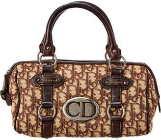 Christian Dior Brown Diorissimo Canvas Handbag