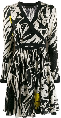 Etro tropical cut-out dress