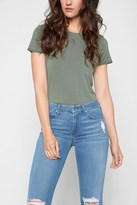 7 For All Mankind Crew Neck Tee In Dusty Olive