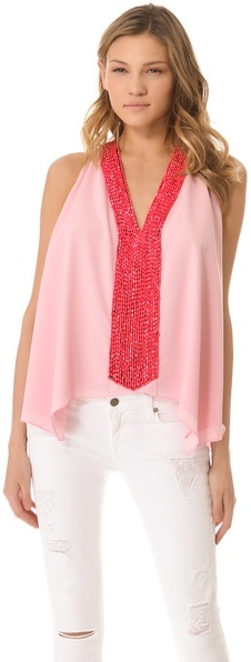 T-Bags Tbags Los Angeles Embellished Drape Top