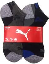Puma Men's Low Cut All Sport No Show Socks 6-Pair (Shoe Size 6-12, White/Grey)