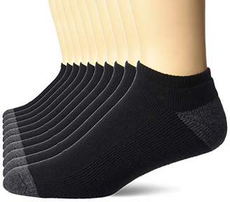 Amazon Essentials Men's 10-Pack Cotton Half Cushioned No-Show Socks
