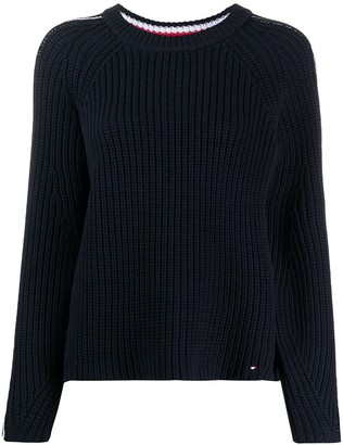 Tommy Hilfiger Striped Chunky Knit Jumper