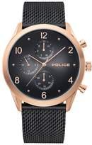 Police Silfra Men's Black Stainless Steel Bracelet Watch