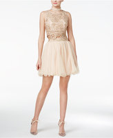 As U Wish Juniors' 2-Pc. Embellished Fit & Flare Dress