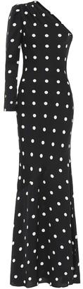 Rebecca Vallance Penelope one-shoulder gown