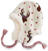Muk Luks Women's Deer Floral Knit Trapper Hat
