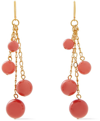 Kenneth Jay Lane 22-karat Gold-plated Resin Earrings