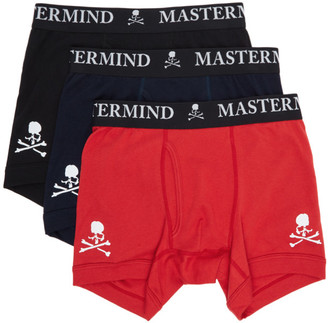 Mastermind Japan Three-Pack Multicolor Logo Boxer Briefs