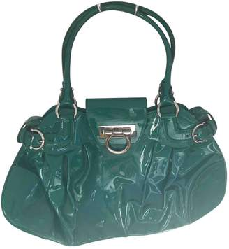 Salvatore Ferragamo Green Patent leather Handbags