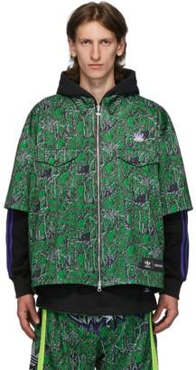 Sankuanz Reversible Black and Green adidas Originals Edition Shirt Hoodie