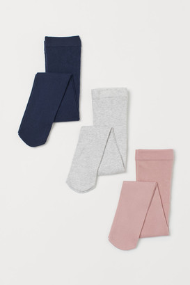 H&M 3-pack Fine-knit Tights - Blue