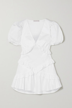 Maggie Marilyn The Jones 2.0 Ruffled Cotton-poplin Mini Dress - White