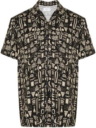 Onia geometric tribal Vacation shirt