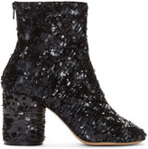 Maison Margiela Black Sequin Sock Boots
