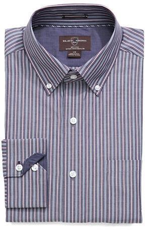 Black Brown 1826 Striped Sport Shirt