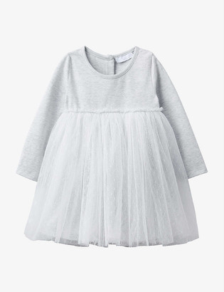The Little White Company Sparkle jersey and tulle dress 0-24 months