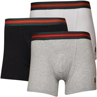 Luke 1977 Mens Sport Rick Long Boxer Trunks Black/White/Grey