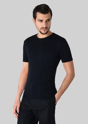 Giorgio Armani Cashmere Crew Neck T-Shirt