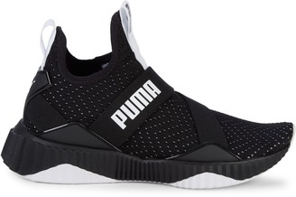 Puma Defy Mid Core Perforated-Knit Trainers