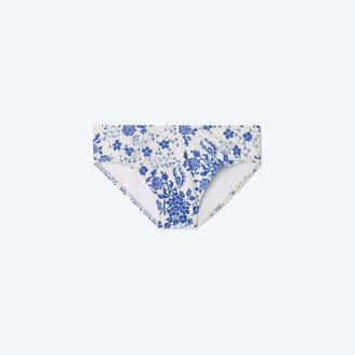 Summersalt The Limited-Edition High Leg Mid Rise Bikini Bottom - Vintage Floral in Hydrangea