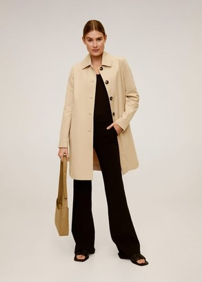 MANGO Carey buttons trench