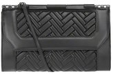 Mackage Lela-Q Black Quilted Leather Clutch