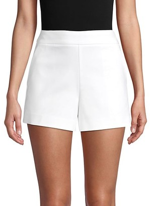 Saks Fifth Avenue Side-Zip Cotton-Blend Shorts