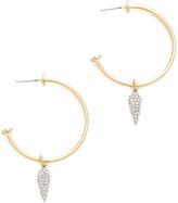 Rebecca Minkoff Round Hoop with Spike Charm Earrings