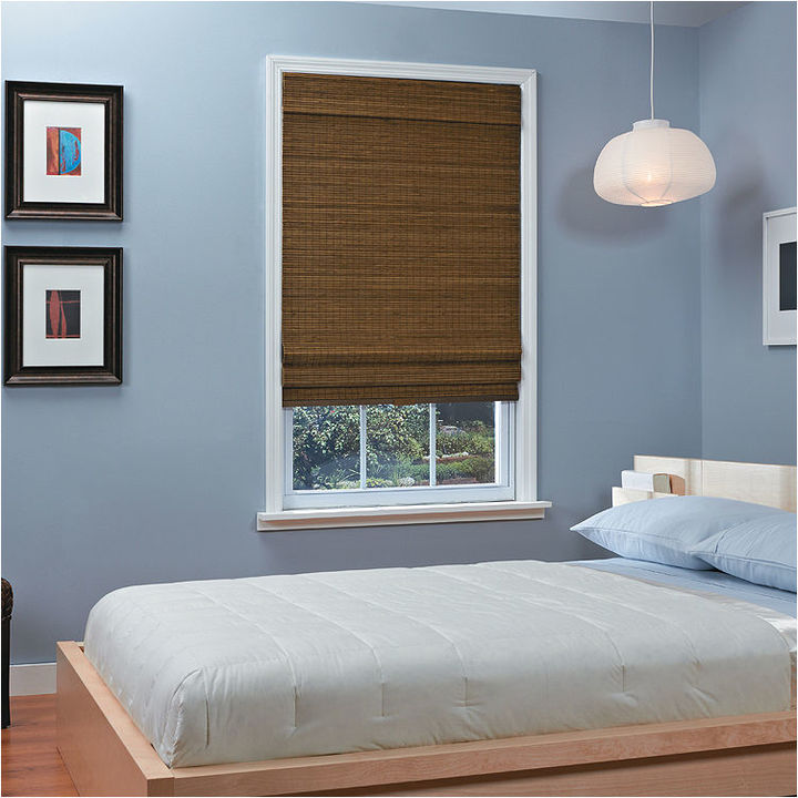 Asstd National Brand Natural Woven Bamboo Cordless Roman Shade