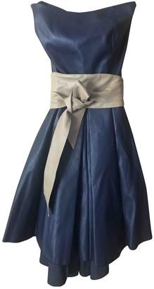 Jijil Blue Leather Dress for Women