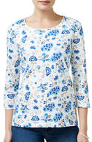 Karen Scott Petite Floral-Print Top
