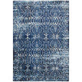 Panache Rizzy Home Collection Vivienne Scroll Rectangular Rugs, One Size , Blue