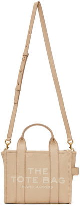 Marc Jacobs Beige Leather The Mini Traveler Tote Bag