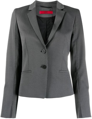 HUGO BOSS Single-Breasted Fitted Blazer