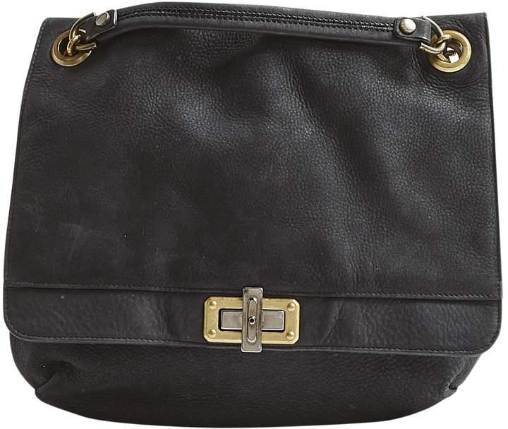 Lanvin Happy Black Suede Handbag