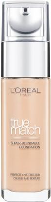 L'Oreal Foundation True Match Liquid Foundation with Hyaluronic Acid & SPF 17 30ml