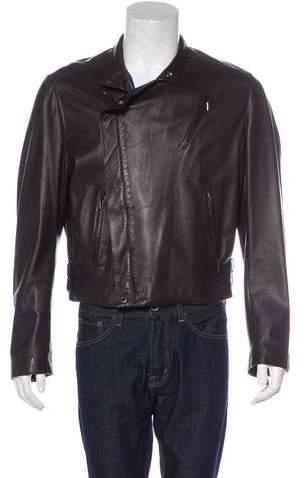 Armani Collezioni Leather Moto Jacket