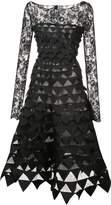 Oscar de la Renta bateau neck embellished A-line dress