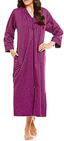 Miss Elaine Petite Embroidered Damask Zip Robe