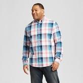 Merona Men's Big & Tall Long Sleeve Button Down Plaid Shirt