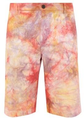 Aries Eco Tie-dye Denim Shorts - Mens - Multi