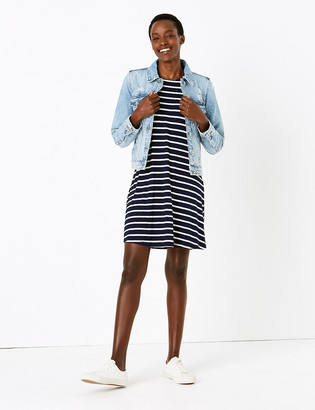 Marks and Spencer Jersey Striped Sleeveless Swing Dress