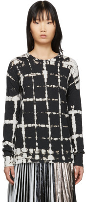 Proenza Schouler Black and White Tie-Dye Long Sleeve T-Shirt