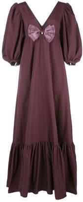 STAUD bow-detail maxi dress