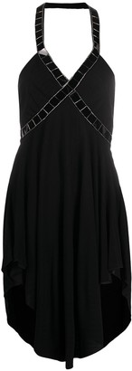 Just Cavalli Embellished Halterneck Mini Dress