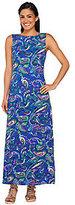 As Is Liz Claiborne New York Petite Paisley Print Knit Maxi Dress