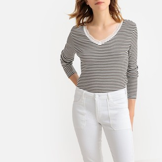 La Redoute Collections Striped Long-Sleeved T-Shirt