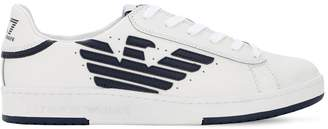 Emporio Armani Ea7 Millennium Leather Sneakers