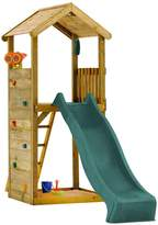 Plum Wooden Lookout Tower Play Centre with Slide, Climbing Wall and Sand Pit